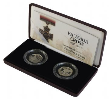 2006 x  Silver Proof Piedfort 50p - Victoia Cross and Solder